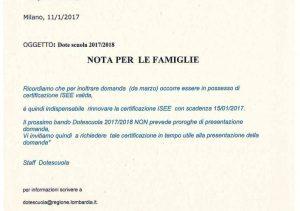 AVVISO ALLE FAMIGLIE PER DOTE SCUOLA 2017-18_01